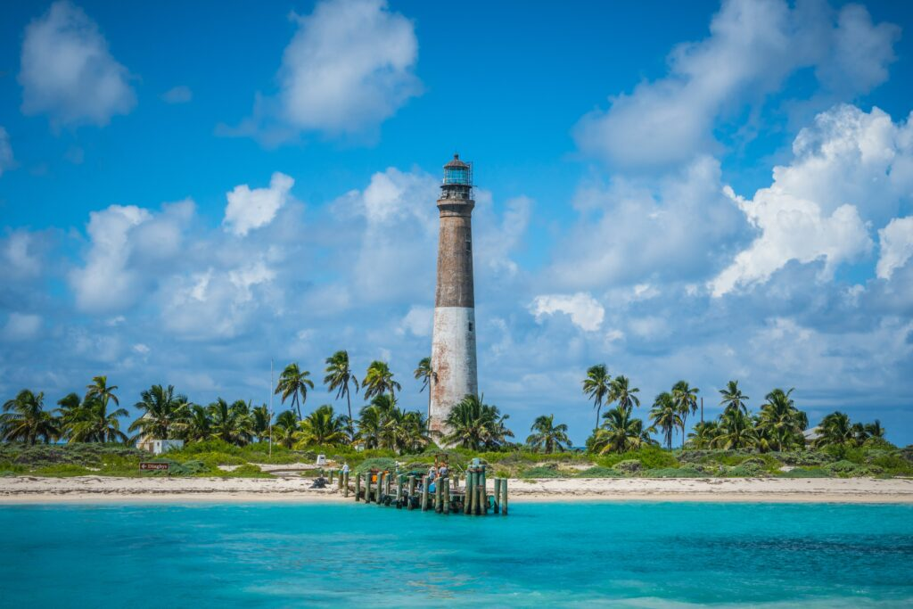 The lighthouse at Dry Tortugas National Park in Florida
