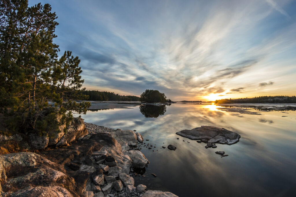 Minnesota's Voyageurs National Park at Sunset